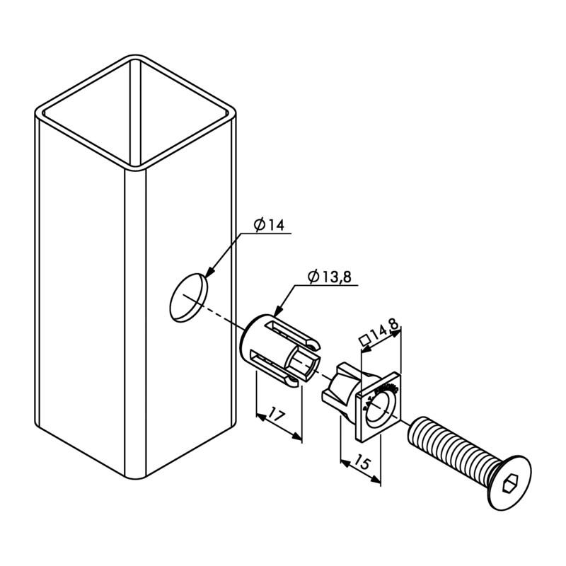 cheville quick fix qf5 locinox pour le m tal serrurerie. Black Bedroom Furniture Sets. Home Design Ideas