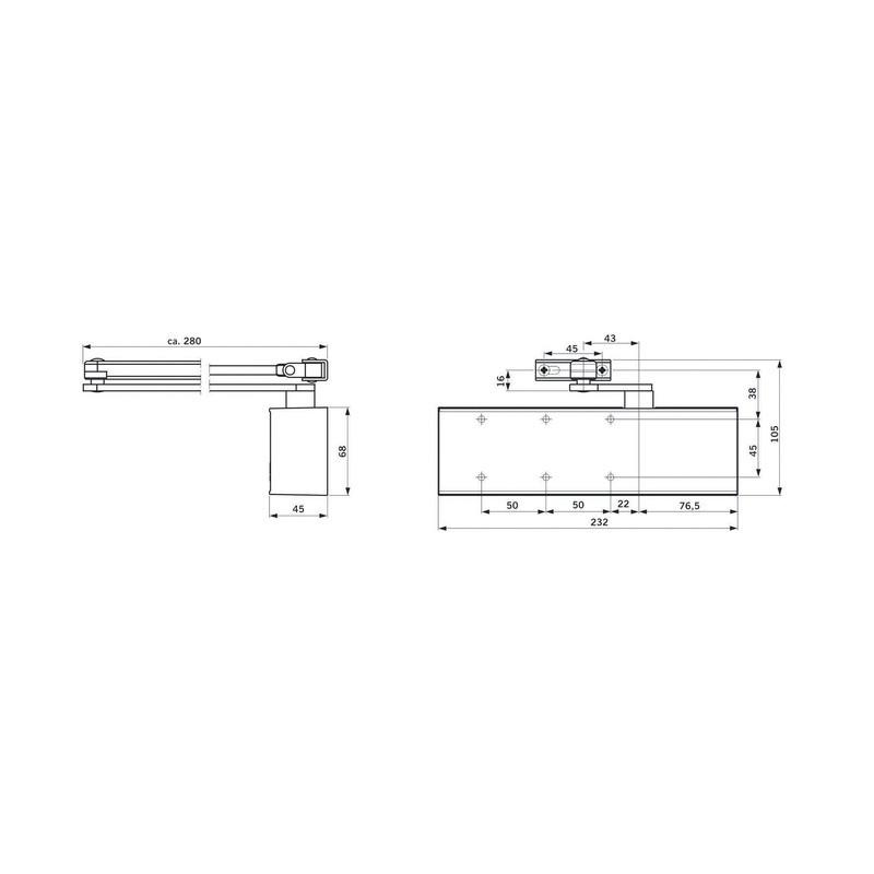 ferme porte ts71 corps seul serrurerie boutique. Black Bedroom Furniture Sets. Home Design Ideas