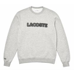 sweat-shirt gris Lacoste homme