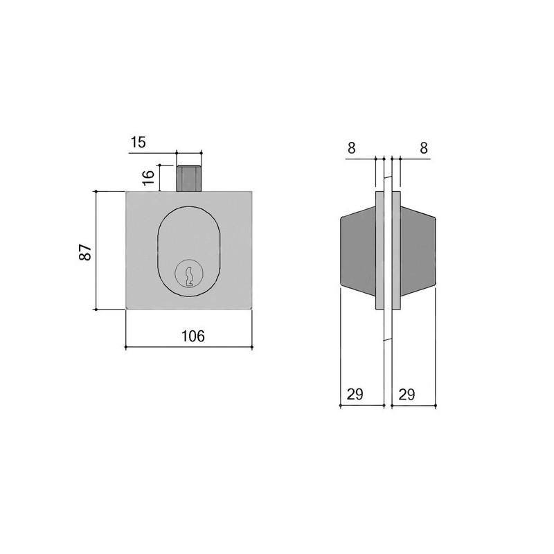 Serrure basse de porte glace 1358 de stremler assa abloy - Schema serrure de porte ...