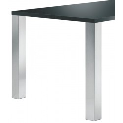 Jeu de 4 pieds de table carrés 60 X 60 mm