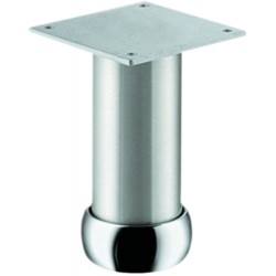 Pied de meuble aluminium rond réglable