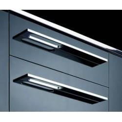 Poignée capua aluminium finition inox  de 172mm