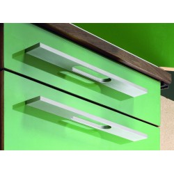 Poignée apua aluminium finition inox  de 172mm
