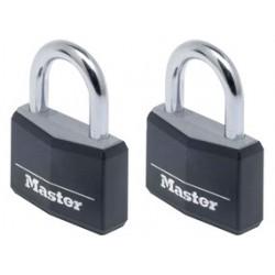 Lot d 2 cadenas en aluminium massif Master lock