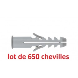 Pack de 650 chevilles a collerette INDEX