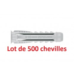 Pack de 500 chevilles quadruple expansion