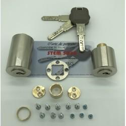 jeu de cylindres adaptable KESO de haute sécurité.