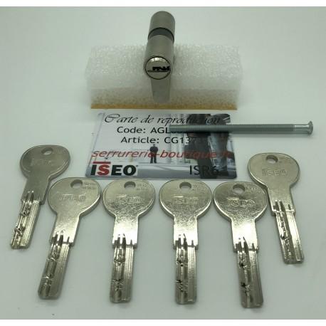 Cylindre européen 2 entrée CITY ISEO IS R6 avec 6 clés.
