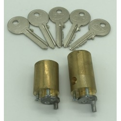Jeu de cylindres pour sureté ZENITH avec 5 clés