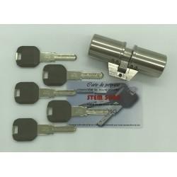 Cylindre adaptable pour monobloc Fichet 41x41mm 5 clés