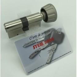 Cylindre Européen STEM 5000 de haute sécurité à bouton
