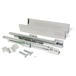 Kit de tiroir extérieur Vantage-Q Emuca hauteur 83 mm et profondeur 350 mm finition gris métallisé