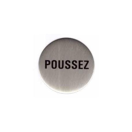 """Plaques signalétiques """"Poussez"""""""