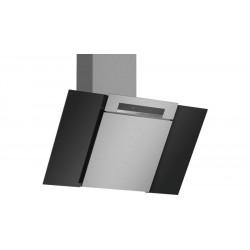 Hotte décorative, 80 cm noir avec finition en verre BOSCH DWK87BM60