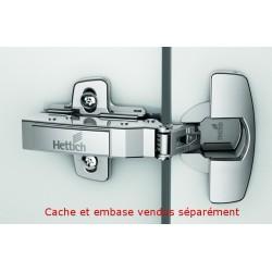 Charnière SENSYS amortis TB 53 (BLUM 45 mm) à ENFONCER, ouverture 110°