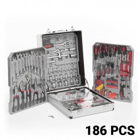 caisse outils compl te avec 186 outils et sa mallette. Black Bedroom Furniture Sets. Home Design Ideas