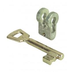 Adaptateur pour passer une serrure à cylindre europeen en clé L