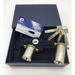 Jeu de cylindres adaptable 787 Fichet avec 6 clés haute sécurité