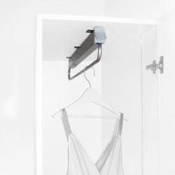 Emuca Porte-vêtements extractible pour armoire, 800 mm, Acier et pastique, Gris métallisé