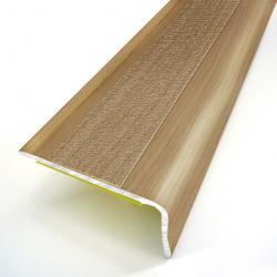 Nez de marche adhésif en aluminium couleur chêne clair