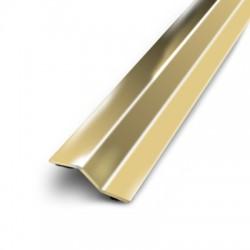 seuil multi-niveaux adhésif en laiton de 3x93 cm