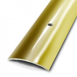 Seuil de porte à visser plat - laiton 9/10 - poli - 30x730 mm