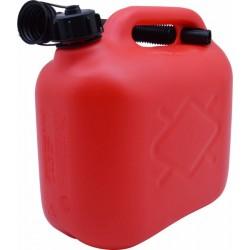 Jerrican 5L plastique rouge Norme UN