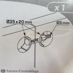 ferrure d'assemblage à encastrer. 6x65mm