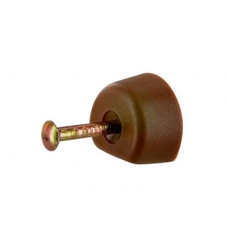 Lot de 24 taquets à clouer Marron Diamètre: 15mm
