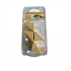Lot de 4 taquets équerre d'étagère à visser plastique Beige 23x23mm avec VIS