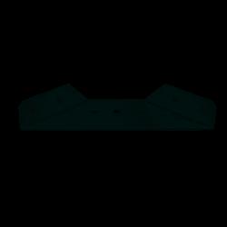 equerre de lit en acier à visser x H.27 mm x l.177 mm