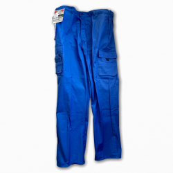 Pantalon professionnel multipoches bleu bugatti