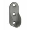 2 supports d'extrémités. Pour tube de penderie oval 30x15mm