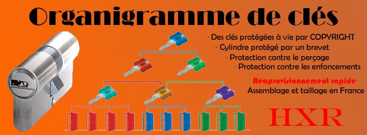 Organigramme de clé